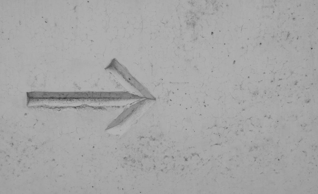 Arrow pointing to future