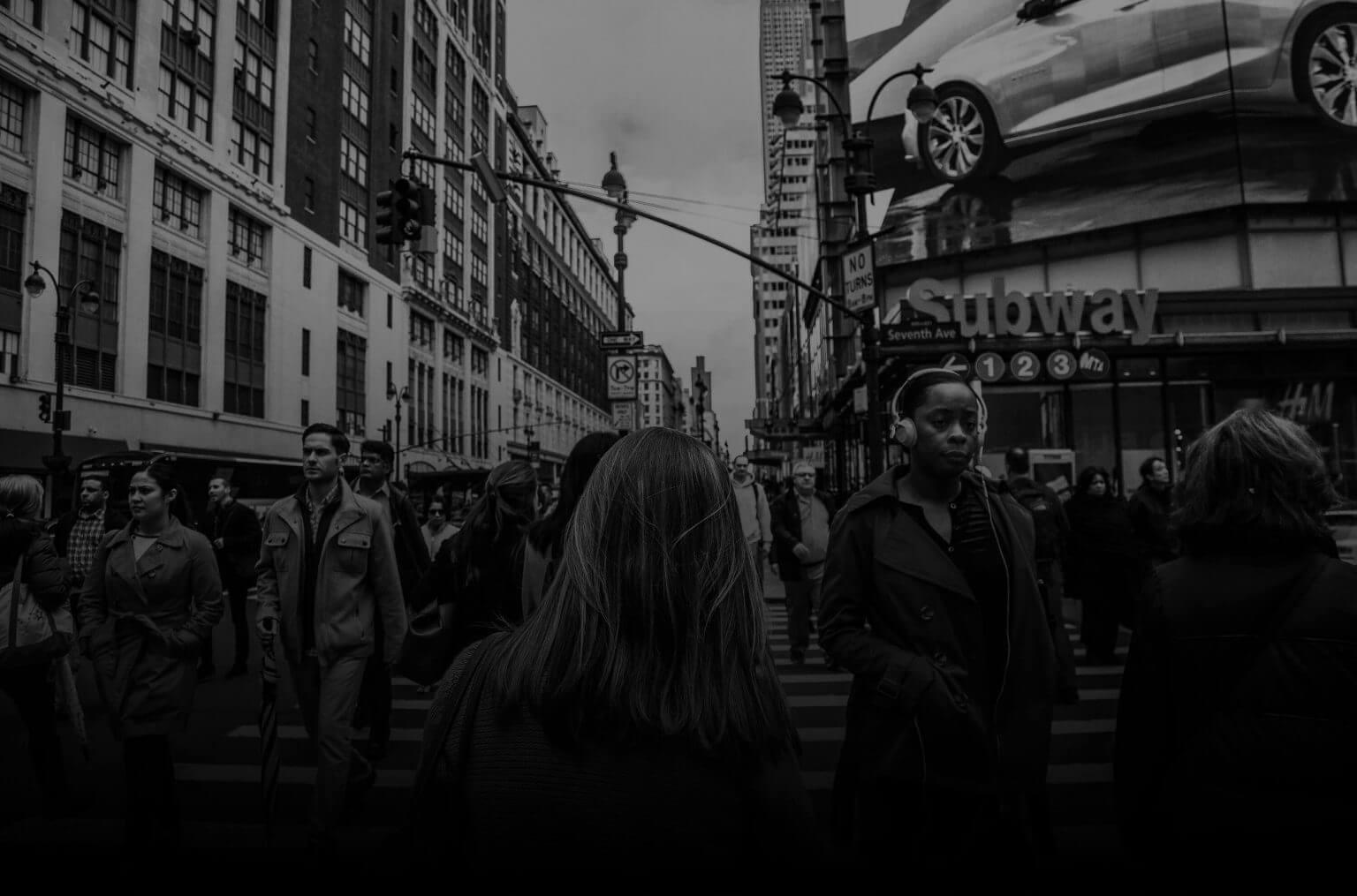 header people walking on the street